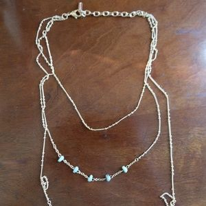 BaubleBar Jewelry - SUGARFIX by BaubleBar Green & Gold Layer Necklace